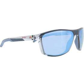Red Bull SPECT Raze Sunglasses Men, shiny x'tal light grey/smoke-ice blue mirror
